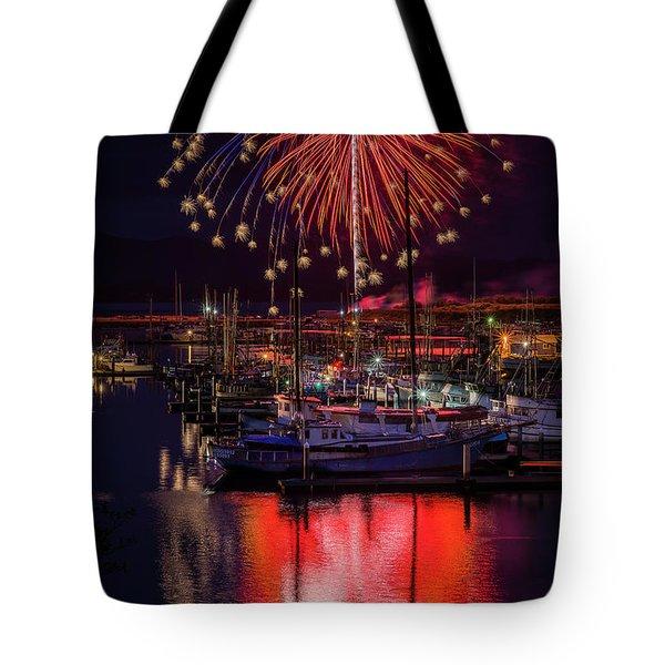 Fireworks At The Docks Tote Bag