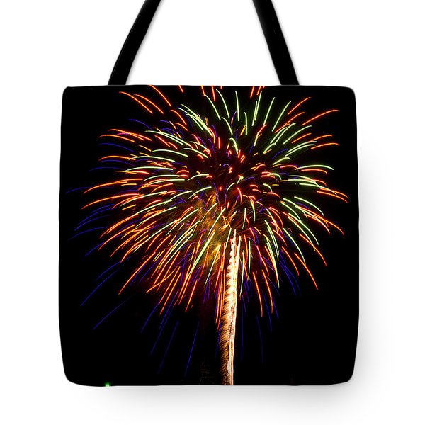 Tote Bag featuring the photograph Fireworks by Bill Barber