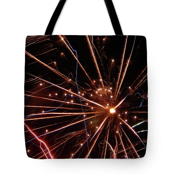 Tote Bag featuring the photograph Fireworks Blast #0703 by Barbara Tristan