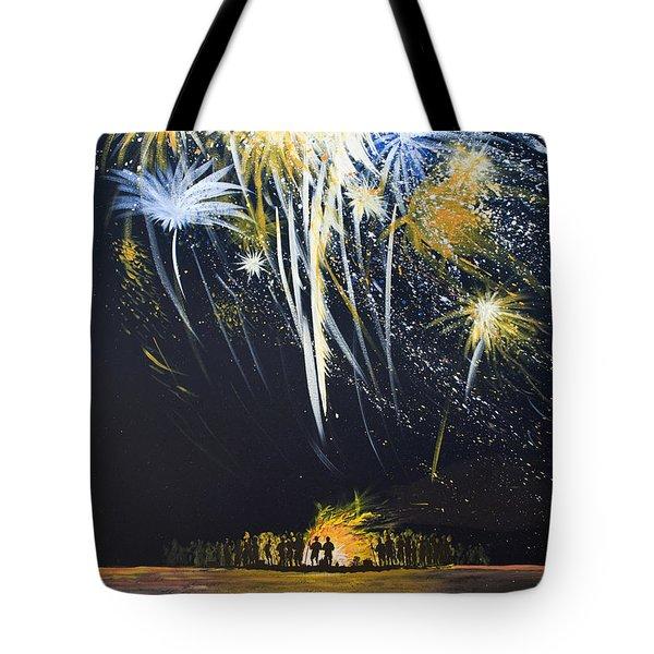 Fireworks Bonfire On The West Bar Tote Bag