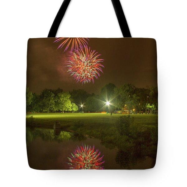 Fireworks During Fair St Louis Tote Bag by Garry McMichael