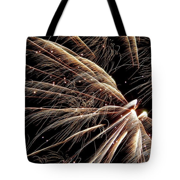 Tote Bag featuring the photograph Fireworks Evolution #0710 by Barbara Tristan