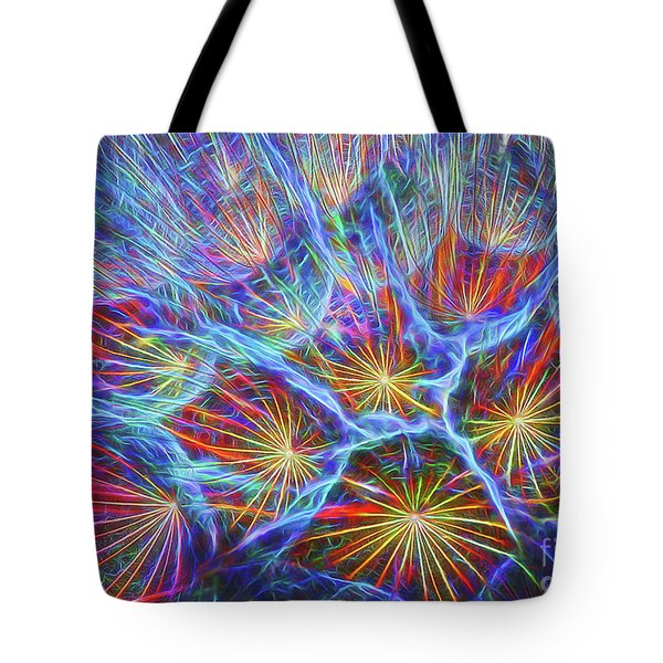 Fireworks In Nature Tote Bag