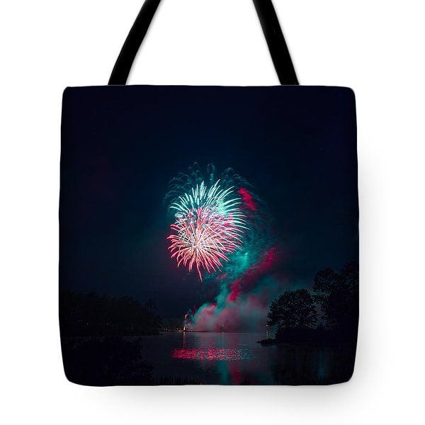 Fireworks In The Country Tote Bag