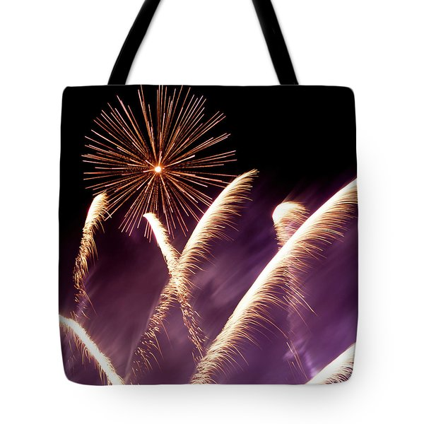 Fireworks In The Night Tote Bag
