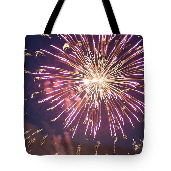 Fireworks In The Park 2 Tote Bag by Gary Baird