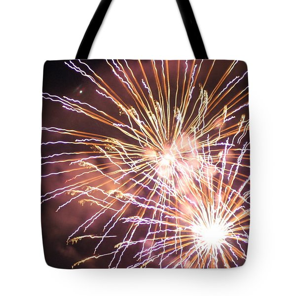 Tote Bag featuring the digital art Fireworks In The Park 3 by Gary Baird