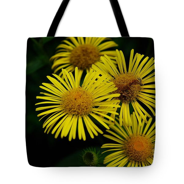 Fireworks In Yellow Tote Bag by John S