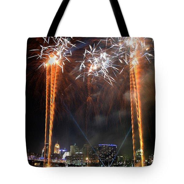 Fireworks Over Cincinnati Tote Bag
