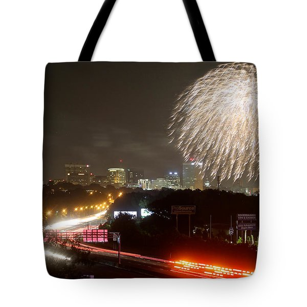 Tote Bag featuring the photograph Fireworks Over Columbia Sc 1 by Joseph C Hinson Photography