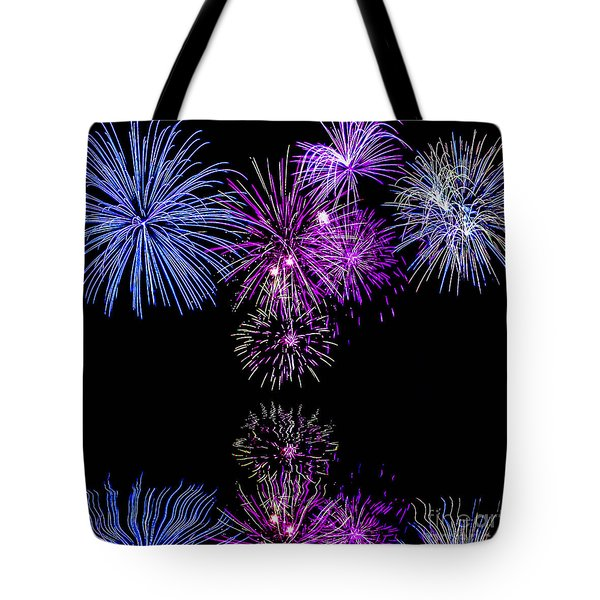 Fireworks Over Open Water 2 Tote Bag by Naomi Burgess