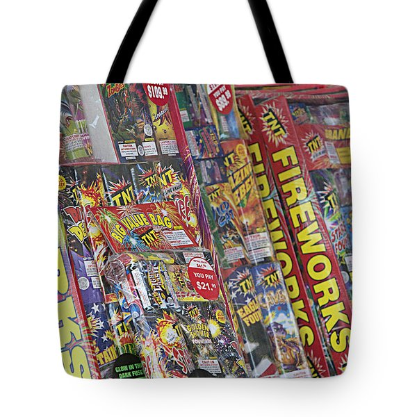 Fireworks - Packaged For Sale Tote Bag