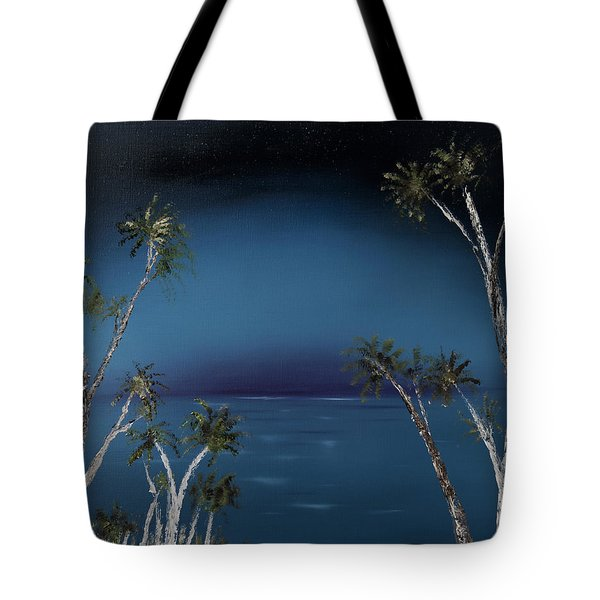 Fireworks Palms Tote Bag