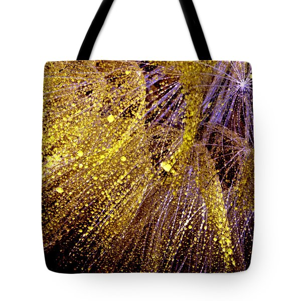 Fireworks Seed Tote Bag by Sandra Foster