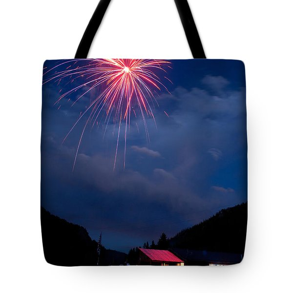 Fireworks Show In The Mountains Tote Bag by James BO  Insogna