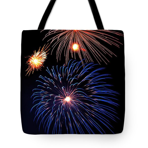 Fireworks Wixom 1 Tote Bag by Michael Peychich