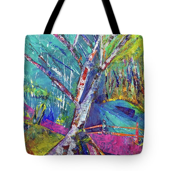 Firey Birch Tote Bag