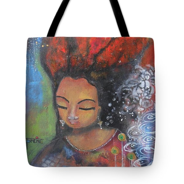 Firey Hair Girl Tote Bag