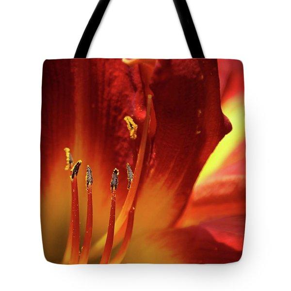 Firey Lily Tote Bag by Sabrina L Ryan
