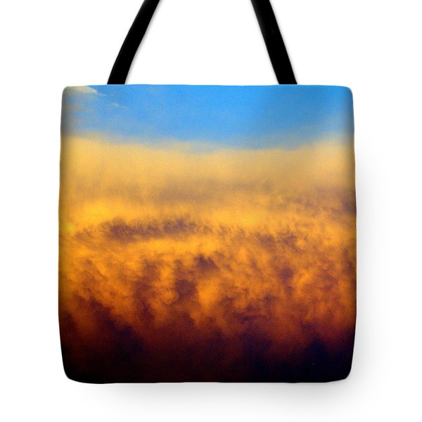 Firey Sunset Tote Bag by Marty Koch