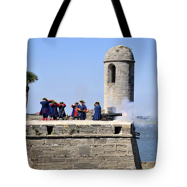 Firing On The British Tote Bag by David Lee Thompson