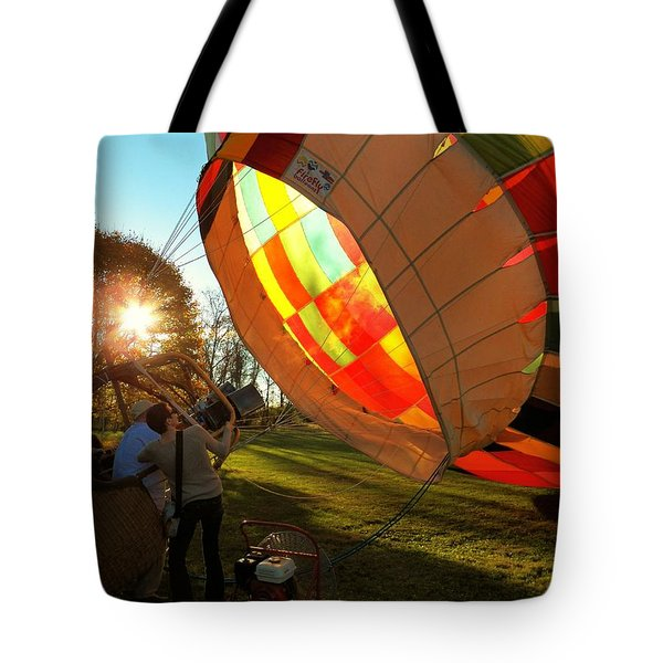 Firing Up Tote Bag by Joyce Kimble Smith