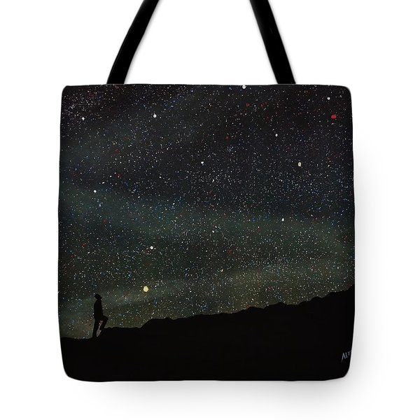 Tote Bag featuring the painting Firmamento by Edwin Alverio