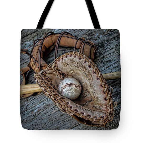 First Base Tote Bag by Pat Cook