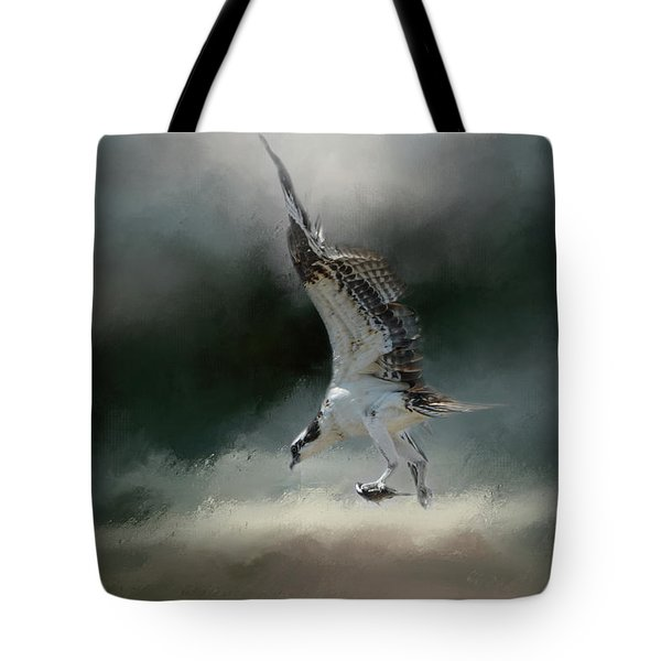 First Catch Of The Morning Osprey Art By Jai Johnson Tote Bag by Jai Johnson