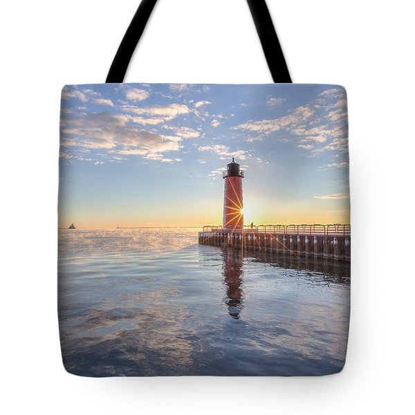 First Cold Sunrise Tote Bag