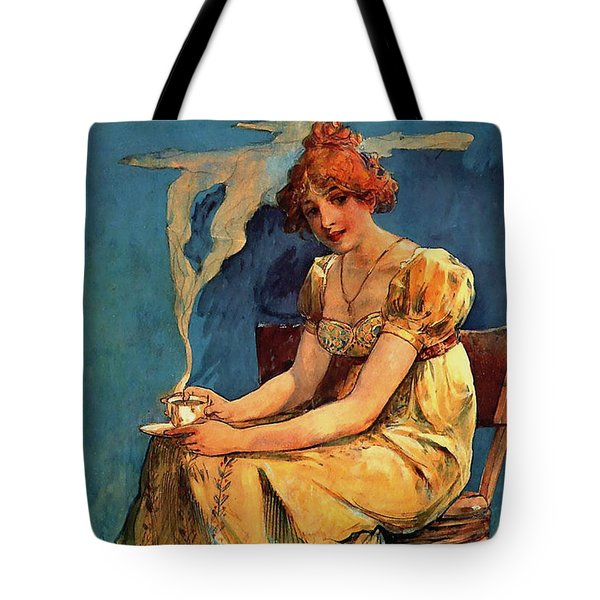 First Cup C1890 Tote Bag by Padre Art