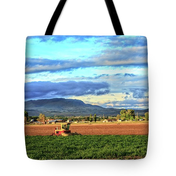 First Cutting Of Alfalfa Tote Bag by Robert Bales