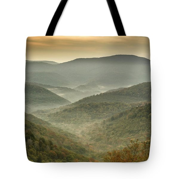 First Day Of Fall Highlands Tote Bag
