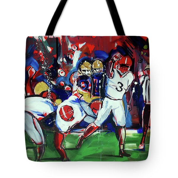 First Down Tote Bag