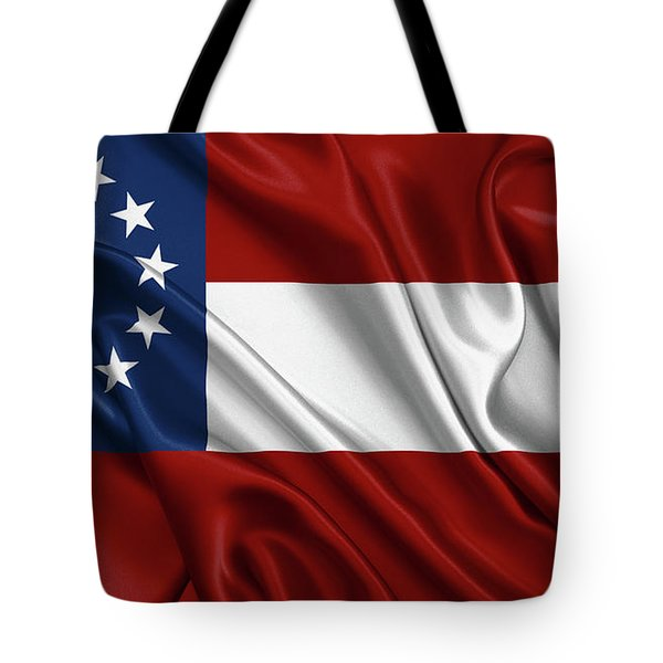 First Flag Of The Confederate States Of America - Stars And Bars 1861-1863 Tote Bag