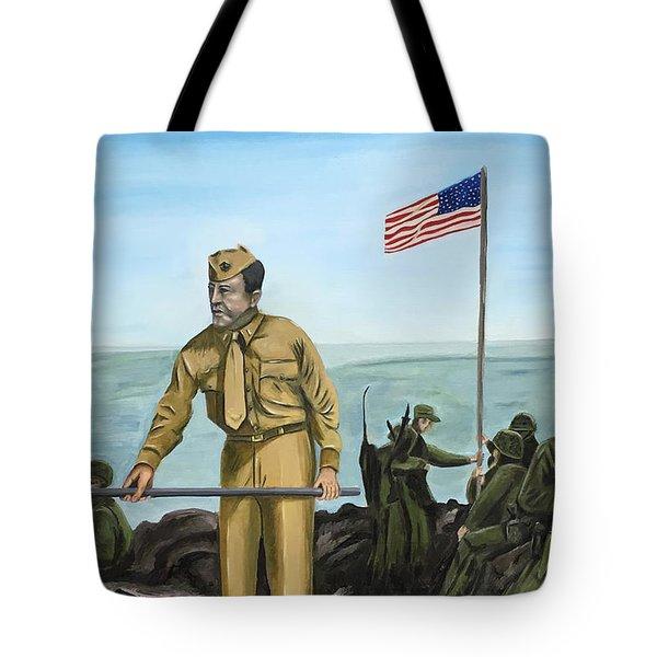 First Flag Raising Iwo Jima Tote Bag