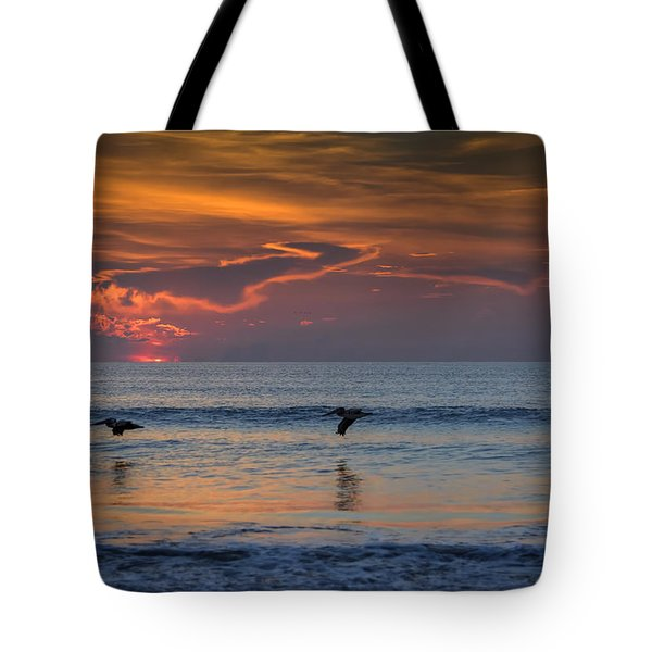 Tote Bag featuring the photograph First Flight First Light by Steven Sparks