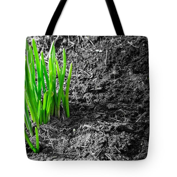 First Green Shoots Of Spring And Dirt Tote Bag
