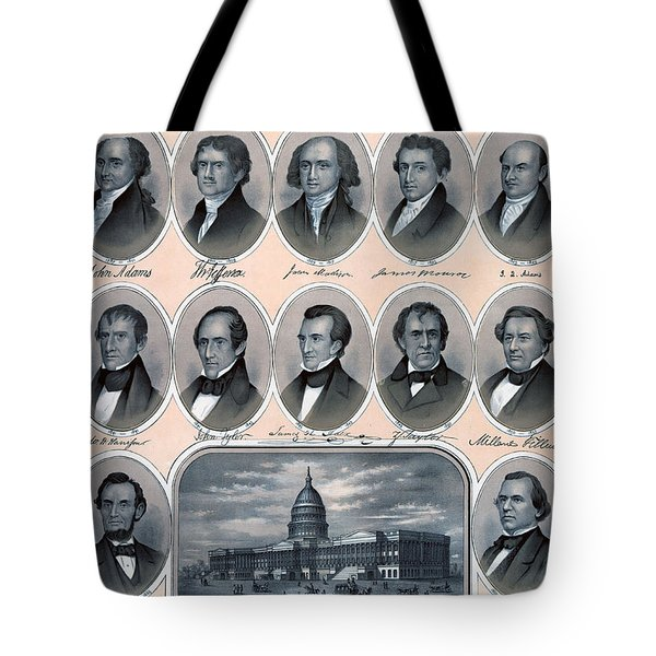 First Hundred Years Of American Presidents Tote Bag