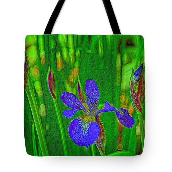 First Iris To Bloom Tote Bag