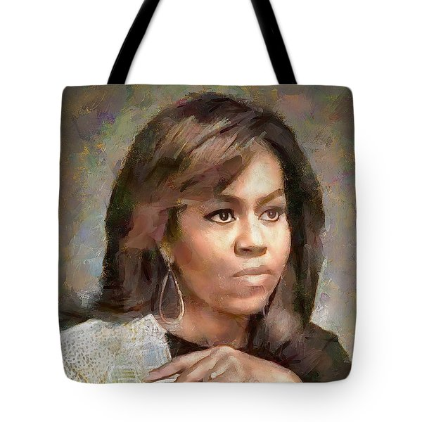 First Lady Michelle Obama Tote Bag