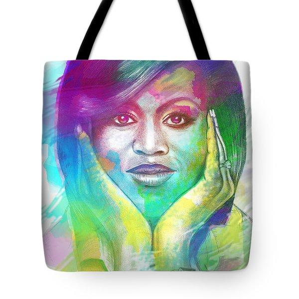 First Lady Obama Tote Bag by AC Williams