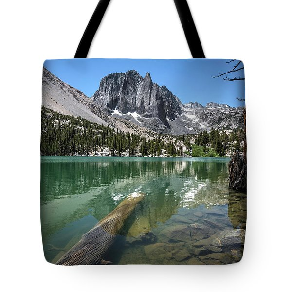 First Lake Reflection Tote Bag by Scott Cunningham