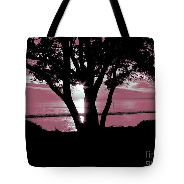 First Light - Pink Tote Bag by Karen Lewis