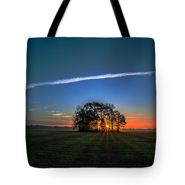 First Light At Center Grove Tote Bag