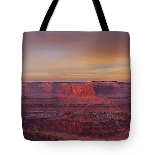 Tote Bag featuring the photograph First Light At Horseshoe Bend by Marie Leslie