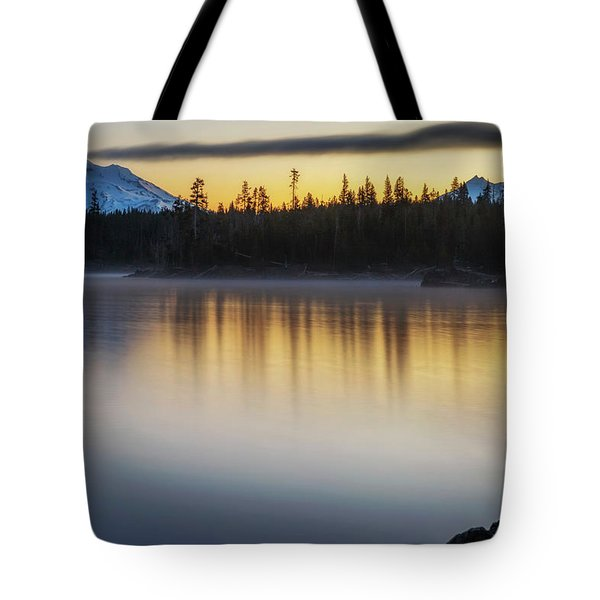 Tote Bag featuring the photograph First Light At Lava Lake by Cat Connor