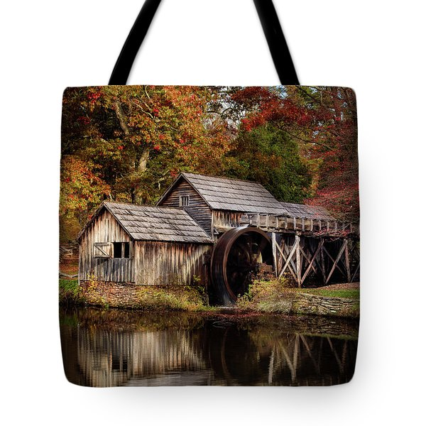 First Light At Mabry Mill Tote Bag