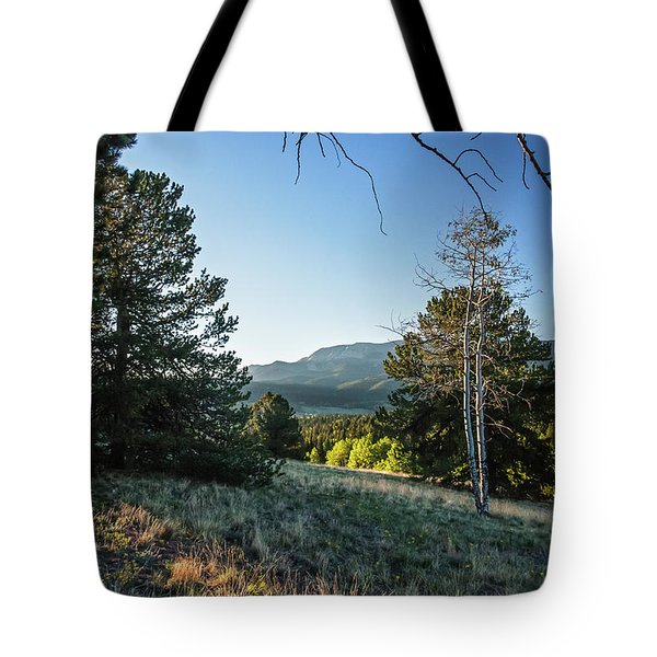 Tote Bag featuring the photograph First Light At Mueller State Park by Lon Dittrick