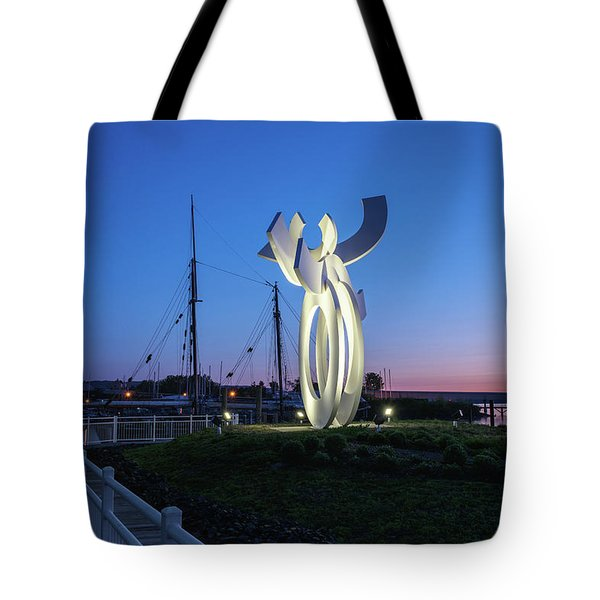 First Light At The Waterfront Tote Bag
